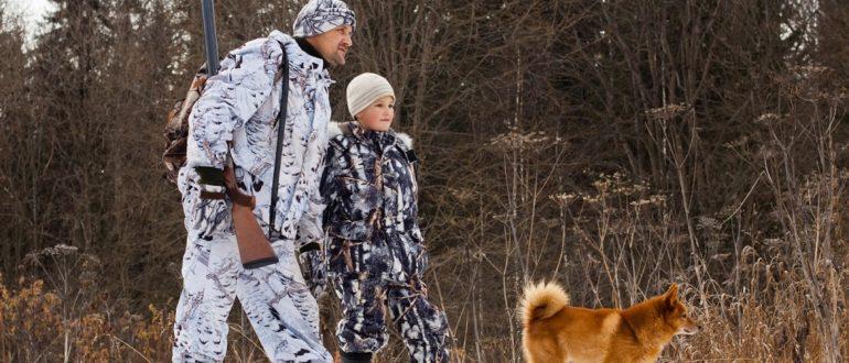 дети на охоте