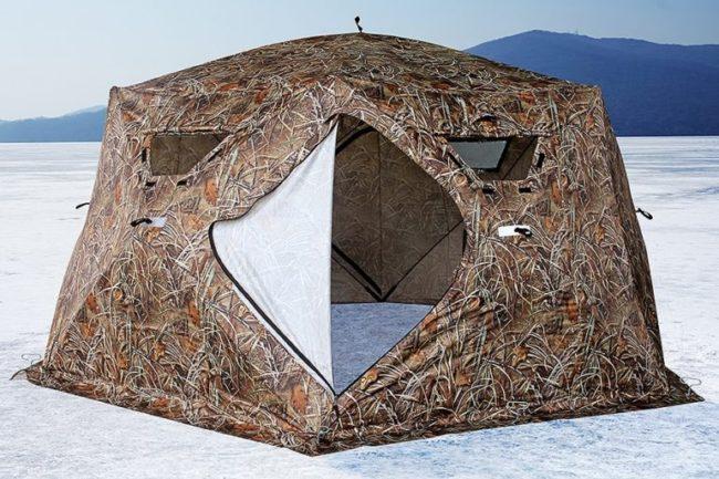 палатка домик для охоты