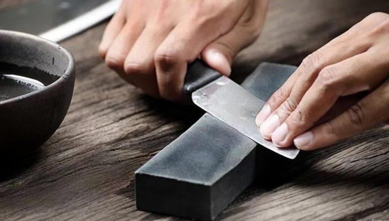 заточка ножа правила