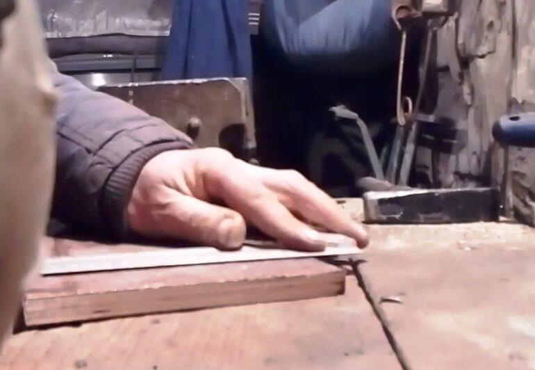 Охота на куницу пружинной кулемкой